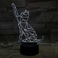 Сменная панель для 3D светильника 3D Lamp Кот v.2 (SP-3048), фото 1