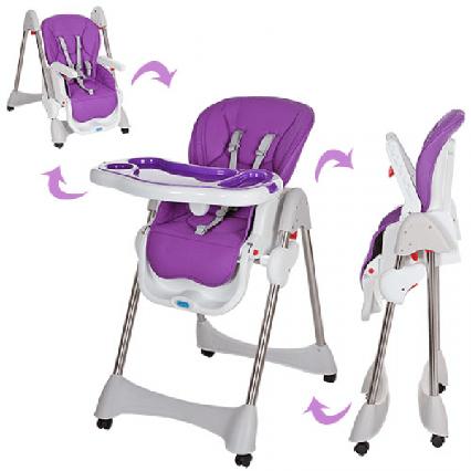 Детский стульчик для кормления фиолетовый
