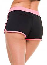 Спортивні шорти жіночі Issa Plus 9492 чорний з рожевим, фото 3