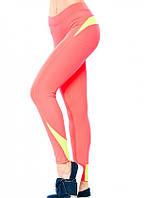 4a2989c6870c4 Спортивные лосины из эластика Issa Plus 9002 розовый с салатовым