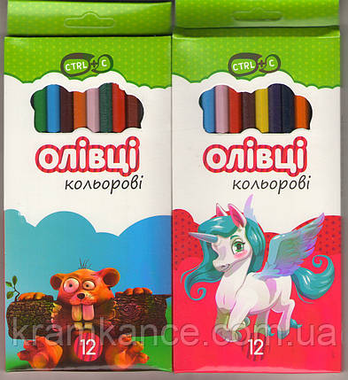 Карандаши цветные 12шт Эконом 55602-KN, фото 2