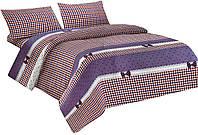 Комплект постельного белья Микроволокно 009 Oulaiya 7637 Фиолетовый