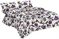 Комплект постельного белья Микроволокно 013 Oulaiya 7675 Фиолетовый