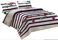 Комплект постельного белья Микроволокно 016 Oulaiya 7705 Красный, Фиолетовый