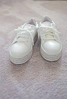 Женские кроссовки криперы кожа Италия стразы белые  39