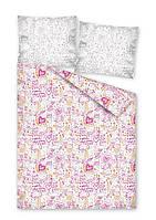 Комплект постельного белья Молодежный Хлопковый 2385A Detexpol 7307 Розовый