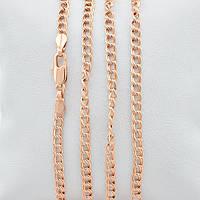 Цепочка Позолота 585 пробы длина 50 см, ширина 4 мм,медицинское золото, ювелирный сплав,бижутерия xuping