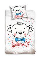 Комплект постельного белья Молодежный Хлопковый NR 006 Carbotex 6835 Белый, Синий