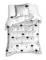 Комплект постельного белья Молодежный Хлопковый NR 009 Carbotex 9195 Белый, Черный