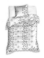 Комплект постельного белья Молодежный Хлопковый NR 013 Carbotex 9232 Белый, Черный