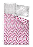 Комплект постельного белья Молодежный Хлопковый 2386A Detexpol 7291 Розовый