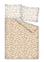 Комплект постельного белья Молодежный Хлопковый 2384A Detexpol 7314 Бежевый