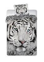 Комплект постельного белья Молодежный Хлопковый NR 366 Faro 5642 Черный, Серый
