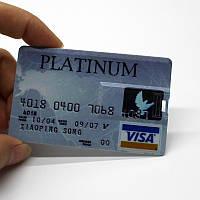 Флешка кредитка №5 PLATINUM visa  32Гб USB flash 32Gb