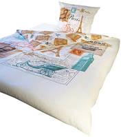 Комплект постельного белья Молодежный 111 Faro 7069 Кремовый