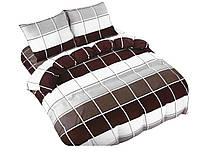 Комплект постельного белья NR 001 Oulaiya 5004 Белый, Коричневый, Серый