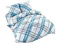 Комплект постельного белья NR 011 Oulaiya 4908 Синий, Серый