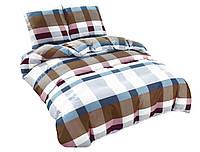 Комплект постельного белья NR 015 Oulaiya 4878 Белый, Синий, Коричневый