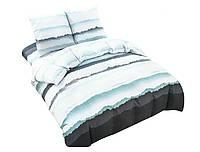 Комплект постельного белья NR 016 Oulaiya 4854 Белый, Синий, Серый