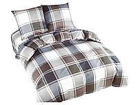 Комплект постельного белья NR 018 Oulaiya 4830 Белый, Серый, Коричневый