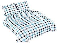 Комплект постельного белья NR 026 Oulaiya 4748 Белый, Синий, Серый