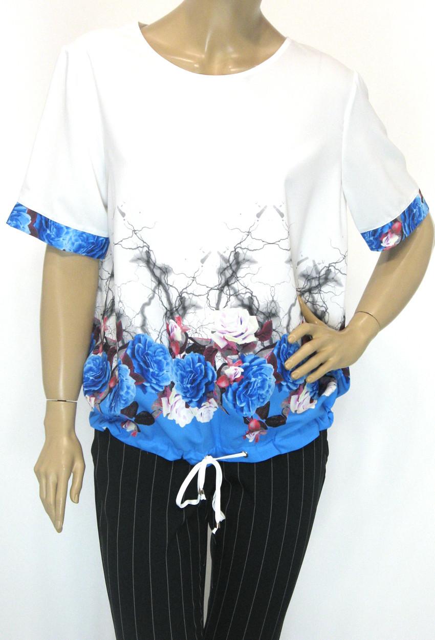 літня блузка з коротким рукавом на завязках внизу  Lavizzion