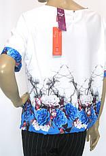 літня блузка з коротким рукавом на завязках внизу  Lavizzion, фото 2
