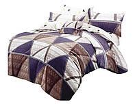 Комплект постельного белья NR 031 Oulaiya 4670 Бежевый, Кремовый, Фиолетовый