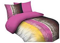 Комплект постельного белья 13 Faro 0618 Коричневый, Розовый, Желтый