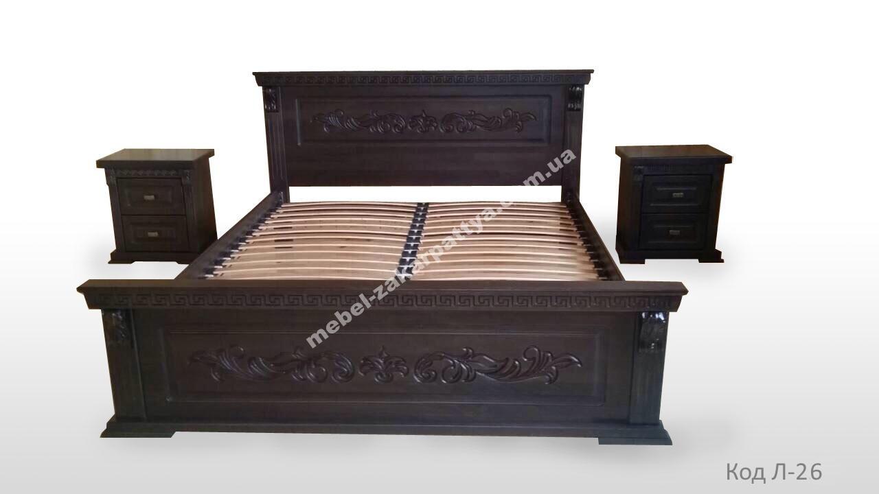 Кровать деревянная Л-26