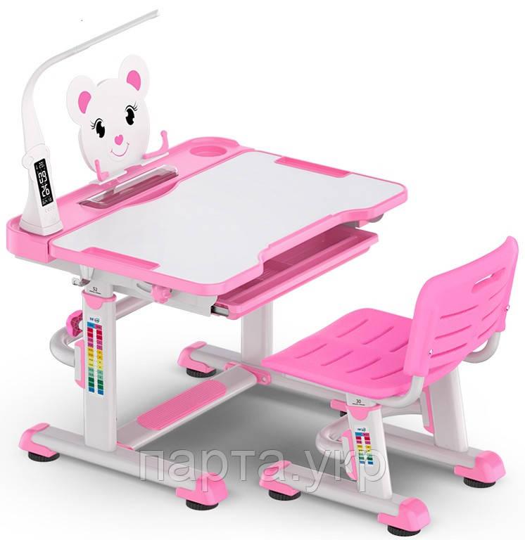 Комплект парта и стульчик Evo-Kids BD-04 70см Teddy (с лампой и подставкой), 4 цвета