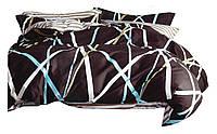 Комплект постельного белья Хлопковый Сатин Двухсторонний NR C1329 Oulaiya 2690 Коричневый, Белый