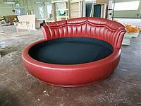 Кровать Дизайнерская круглая Элегия-7, Экокожа Леонардо Каппеллини, Диаметр 2200 мм (Мебель-Плюс TM)