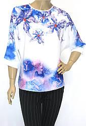 Нарядна шифонова блуза з стразами Microfone