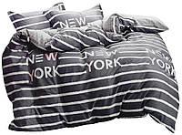 Комплект постельного белья Хлопковый Сатин NR C1291 Oulaiya 7757 Серый