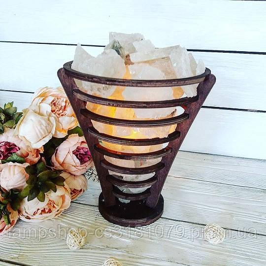 Соляной светильник «Корзина из колец № 2» 3-4кг