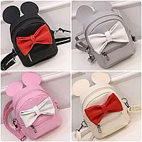 Детский мини рюкзак Микки с ушками и бантиком