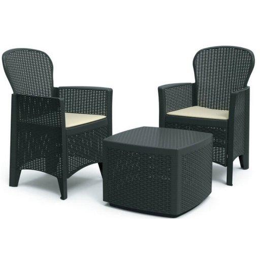 Набор стол и два кресла для сада  Folia