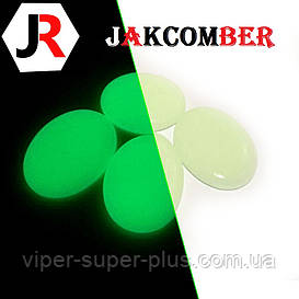 Світяться камені КРАПЛЯ для ландшафтного дизайну освітлення в темряві, JAKCOMBER Зелений від 100 грам