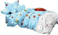 Комплект постельного белья Хлопковый Сатин Детский NR C1269 Oulaiya 1185 Белый, Синий