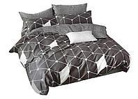 Комплект постельного белья Хлопковый Сатин NR C1317 Oulaiya 8609 Серый