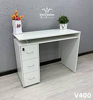 Стол для маникюра со столешницей на хромированных ножках Модель V400, фото 1