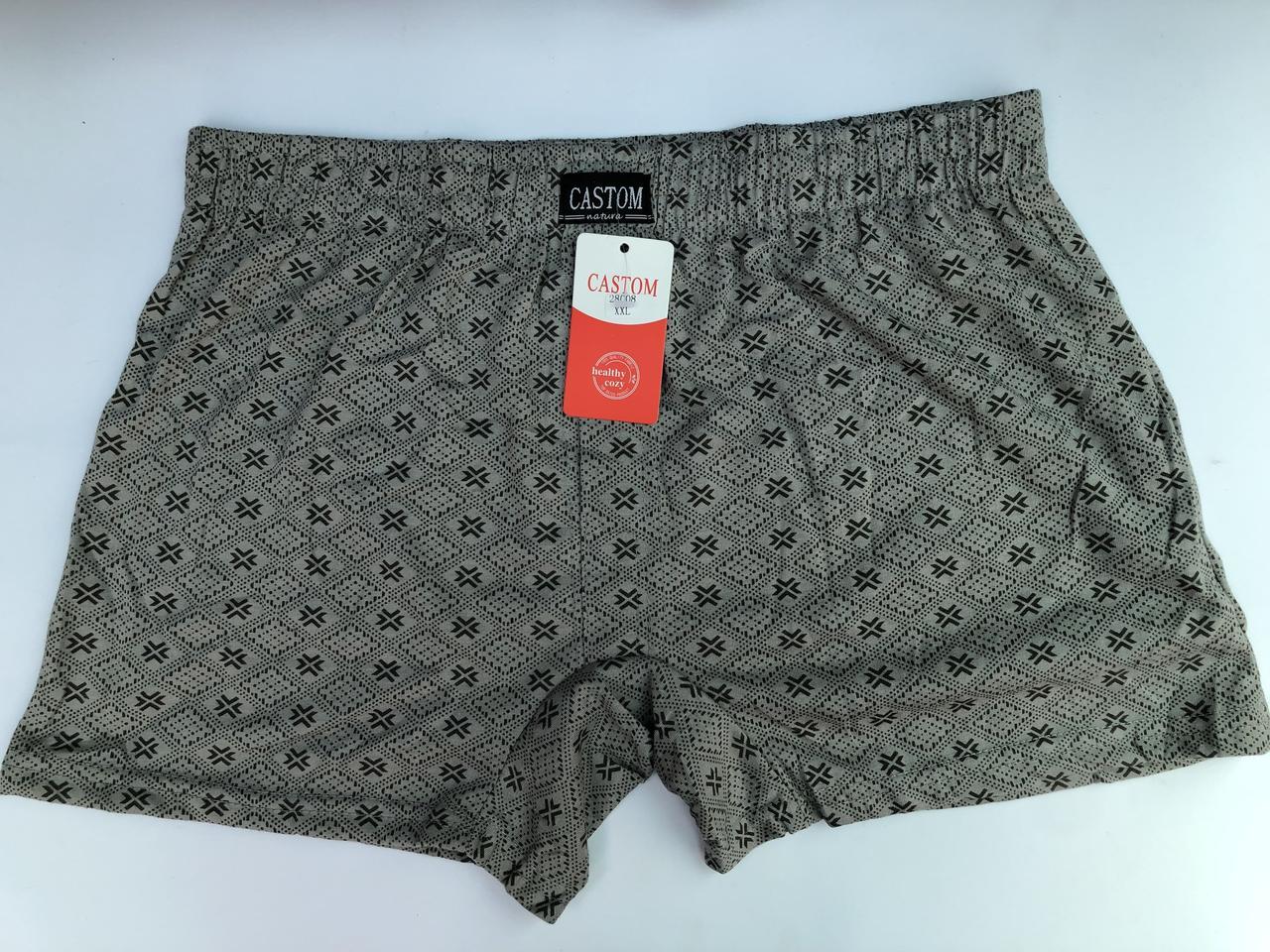 Мужские шорты (семейные трусы батал 5,6,7) Марка «CASTOM» арт.58008
