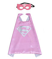 Карнавальный костюм: плащ и маска Супердевушка Supergirl 2-6 лет