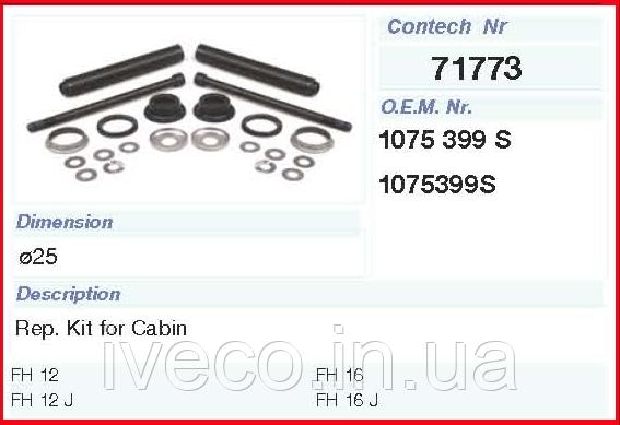 Комплект ремонтный кабины VOLVO Truck FH12/FH16/FM12 Вольво 71773CNT Volvo 1075399
