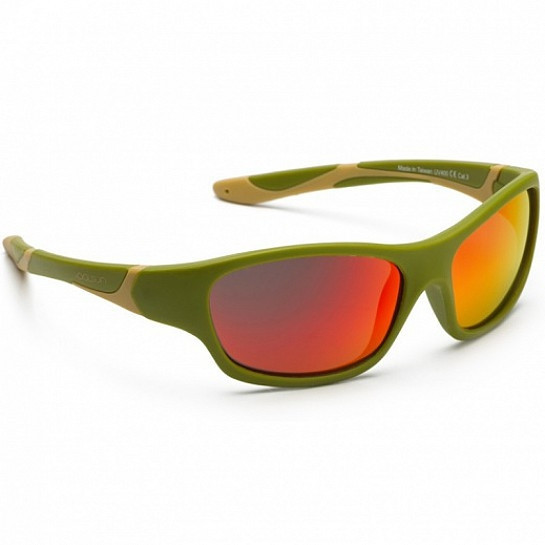Koolsun Sport - Солнцезащитные очки (6-12 лет), цвет хаки