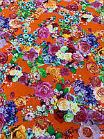 Ткань одежная оранжевый штапель, фото 1