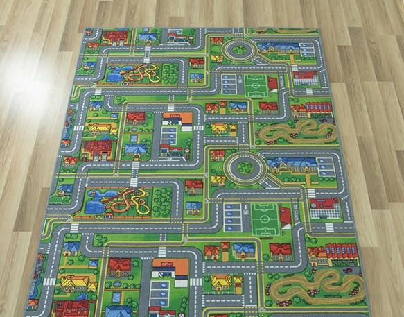 Детский ковер городок с дорогами Плейсити