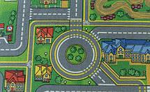 Детский ковер городок с дорогами Плейсити, фото 3