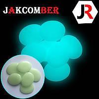 Светящиеся камни КАПЛЯ для ландшафтного дизайна освещение в темноте, JAKCOMBER Бирюзовый от 100 грамм